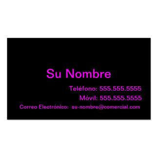 Tarjeta Comercial - Negra y Rosa Plantillas De Tarjetas De Visita