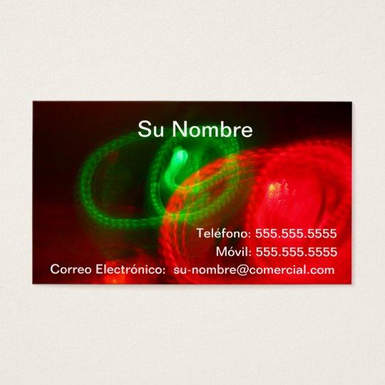 Tarjeta Comercial - Roja y Verde Business Card