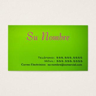 Tarjeta Comercial - Verde Business Card