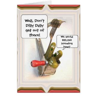 Tarjeta cómica del de agradecimiento de la plantil