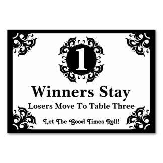 Tarjeta con clase #1 de la tabla de Bunco