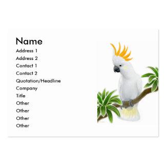Tarjeta con cresta cítrica del perfil del Cockatoo Tarjetas De Visita Grandes