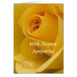 Tarjeta - con el rosa amarillo de la condolencia m