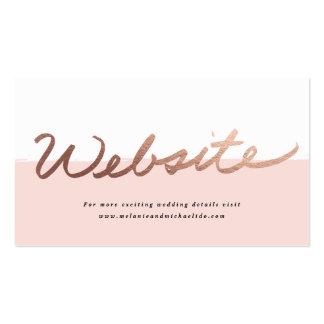 Tarjeta con guión del recinto del Web site del Tarjetas De Visita