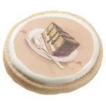 Tarjeta con la torta pintada de la acuarela