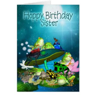 Tarjeta con las ranas de la fantasía - cumpleaños