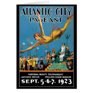 Tarjeta Concurso de belleza de Atlantic City