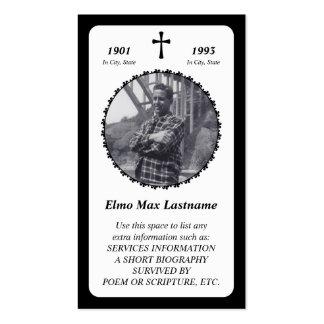 tarjeta conmemorativa. cruz elegante tarjetas de visita
