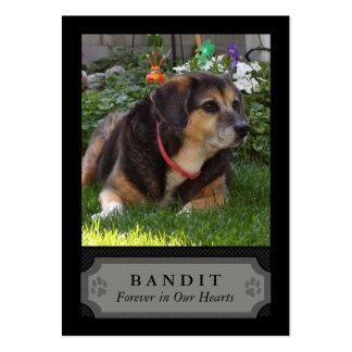 Tarjeta conmemorativa de la foto del perro - negro plantilla de tarjeta de negocio