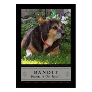 Tarjeta conmemorativa de la foto del perro - negro tarjeta de negocio