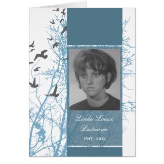tarjeta conmemorativa: silhouscreen los pájaros