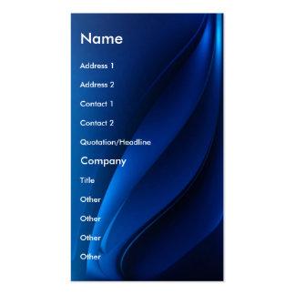 Tarjeta contemporánea flúida azul del perfil del n plantillas de tarjetas personales