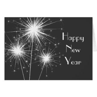Tarjeta corporativa de la Feliz Año Nuevo (gris)