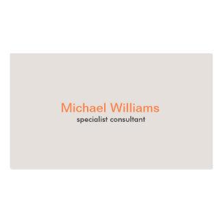 Tarjeta corporativa para profesionales simple tarjetas de visita