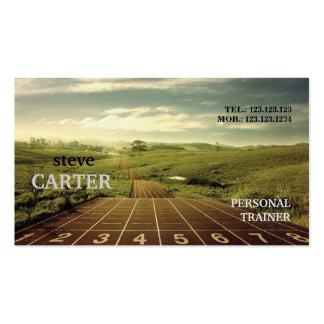Tarjeta corriente del instructor del maratón de la tarjetas de visita