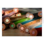 Tarjeta creativa de los colores