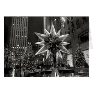 Tarjeta cristalina de la estrella de la plaza de