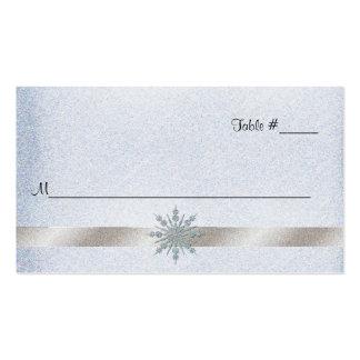 Tarjeta cristalina del lugar de la recepción nupci tarjetas personales