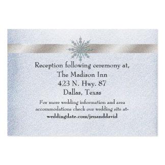 Tarjeta cristalina del recinto del boda del tarjetas de visita grandes