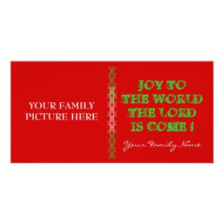 Tarjeta cristiana de la foto del navidad tarjetas fotográficas