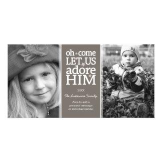Tarjeta cristiana de la foto - día de fiesta del n tarjetas fotográficas