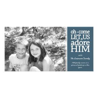 Tarjeta cristiana de la foto - día de fiesta del tarjeta fotográfica personalizada