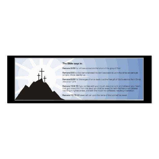 Tarjeta cristiana de la zona de la biblia plantilla de tarjeta de visita