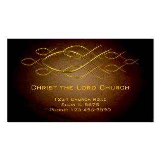 Tarjeta cristiana del perfil tarjetas de visita