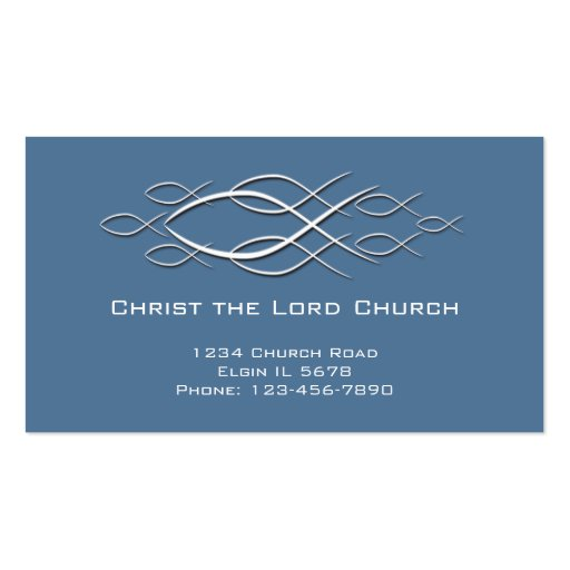Tarjeta cristiana del perfil tarjetas personales