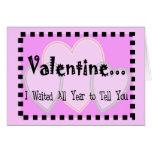 Tarjeta cruel de la tarjeta del día de San Valentí