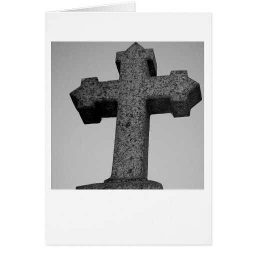 Tarjeta cruzada de piedra