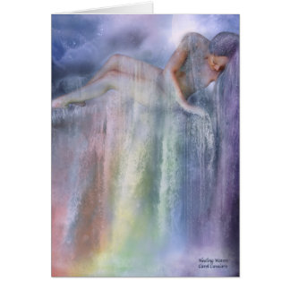 Tarjeta curativa del arte de las aguas