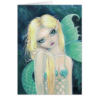 Tarjeta curiosa de la sirena por Molly Harrison