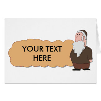 Tarjeta custumizable del rabino judío