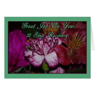 Tarjeta de 12 del paso enhorabuena de la recuperac