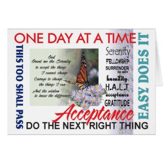 tarjeta de 12 del paso lemas de la recuperación