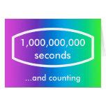 tarjeta de 1.000.000.000 segundos (31 años + 8 mes