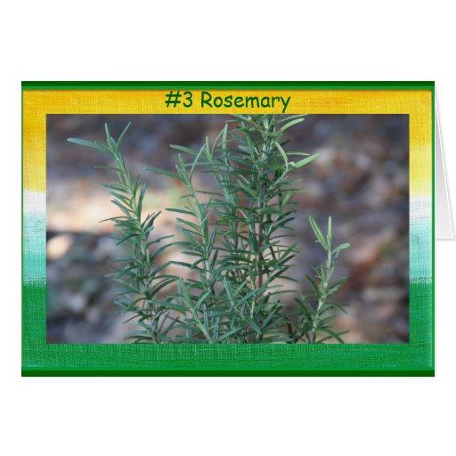 Tarjeta de #3 Rosemary