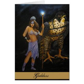 Tarjeta de acrílico de la pintura de la diosa