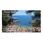 tarjeta de agencia de viajes tarjetas de visita