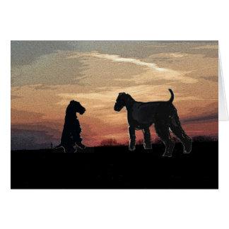 Tarjeta de Airedale Terrier