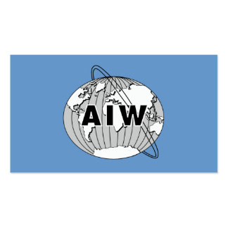 Tarjeta de AIW Info a dar a los miembros anticipad Tarjetas De Visita