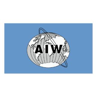 Tarjeta de AIW Info a dar a los miembros anticipad Plantilla De Tarjeta De Negocio