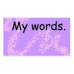Tarjeta de alta frecuencia de la palabra - recurso tarjetas de visita