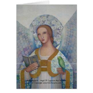 Tarjeta de Aquariel del ángel
