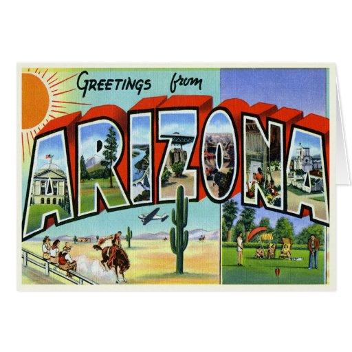 Tarjeta de Arizona del vintage