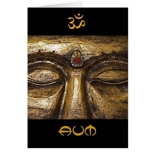 Tarjeta de Aum Buda