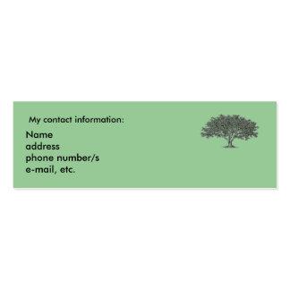 Tarjeta de autobús - intereses de la investigación tarjeta personal