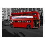 Tarjeta de autobús roja de Londres