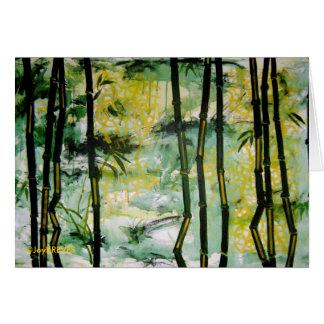 Tarjeta de bambú del jardín (espacio en blanco den